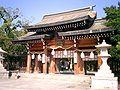 Minatogawa Jinja main gate1.JPG