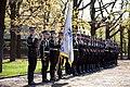 Ministru prezidents Valdis Dombrovskis piedalās svinīgajā vainagu nolikšanas ceremonijā Rīgas Brāļu kapos, atzīmējot Nacisma sagrāves dienu un pieminot Otrajā pasaules karā bojāgājušos (7157212482).jpg