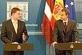 Ministru prezidents Valdis Dombrovskis tikās ar Spānijas valdības prezidentu Hosē Rodrigesu Sapatero (4137740205).jpg