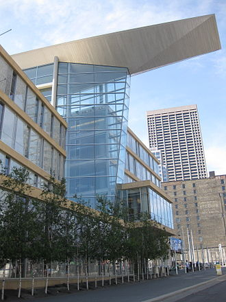 Hennepin County Library - The Minneapolis Central Library in downtown Minneapolis, designed by César Pelli, completed in 2006
