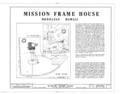Mission Frame House, King and Kawaiahao Streets, Honolulu, Honolulu County, HI HABS HI,2-HONLU,19- (sheet 1 of 7).png