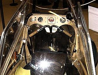 Messerschmitt KR175 - Mivalino controls, similar to those of the KR175