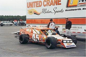 NASCAR Whelen Modified Tour - No. 45 modified car, courtesy of Navy Lakehurst