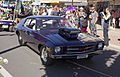 Modified Holden HQ Monaro GTS dragster in the SunRice Festival parade in Pine Ave.jpg