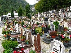 Graveyard from Moggio Udinese around the churc...
