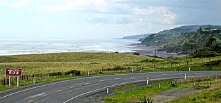 Mokau Village in Waikato region