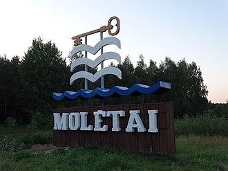 Molėtai - Image: Molėtai, ženklas