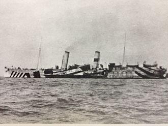 SS Mona's Queen (1885) - Image: Mona's Queen on war service