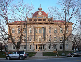 Monroe County, Missouri - Image: Monroe County Missouri Courthouse