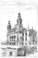 Monte Carlo Casino perspective view of the theatre facade - Croquis d'architecture 1879 - Bonillo 2004 p115.png