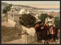 Moorish woman and child on the terrace, I, Algiers, Algeria-LCCN2001697833.tif