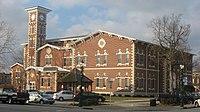 Morgan County Courthouse in Martinsville, southeastern angle.jpg