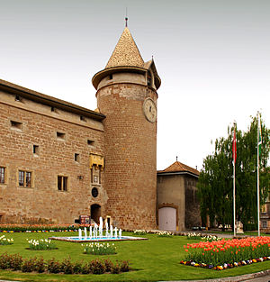 Barony of Vaud - Castle at Morges, seat of baronial administration