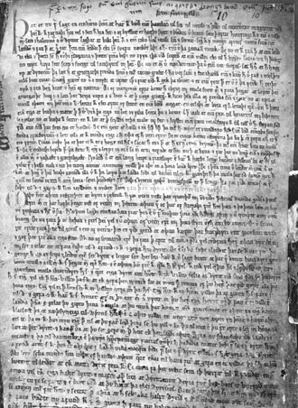Morkinskinna - A folio of Morkinskinna manuscript