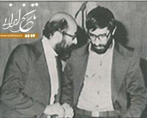Mir-Hossein Mousavi - Mousavi with Mostafa Chamran, 1970's