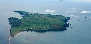 Motiti Island - An aerial view of Motiti Island.