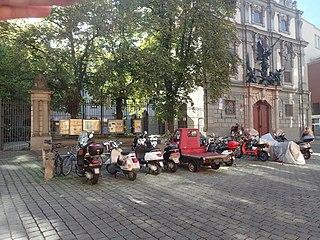 Motorradparkplatz Augsburg Schlachthausgäßchen