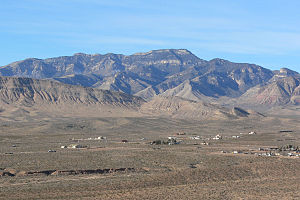 Potosi Mountain (Nevada) - View from the east