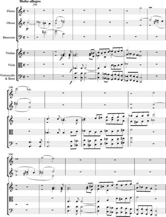 Call and response (music) - Mozart Jupiter Finale development