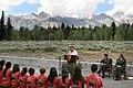 Mrs. Laura Bush speaks to Junior Ranger participants during her visit to Grand Teton National Park Aug. 27, 2007, 0558.jpg