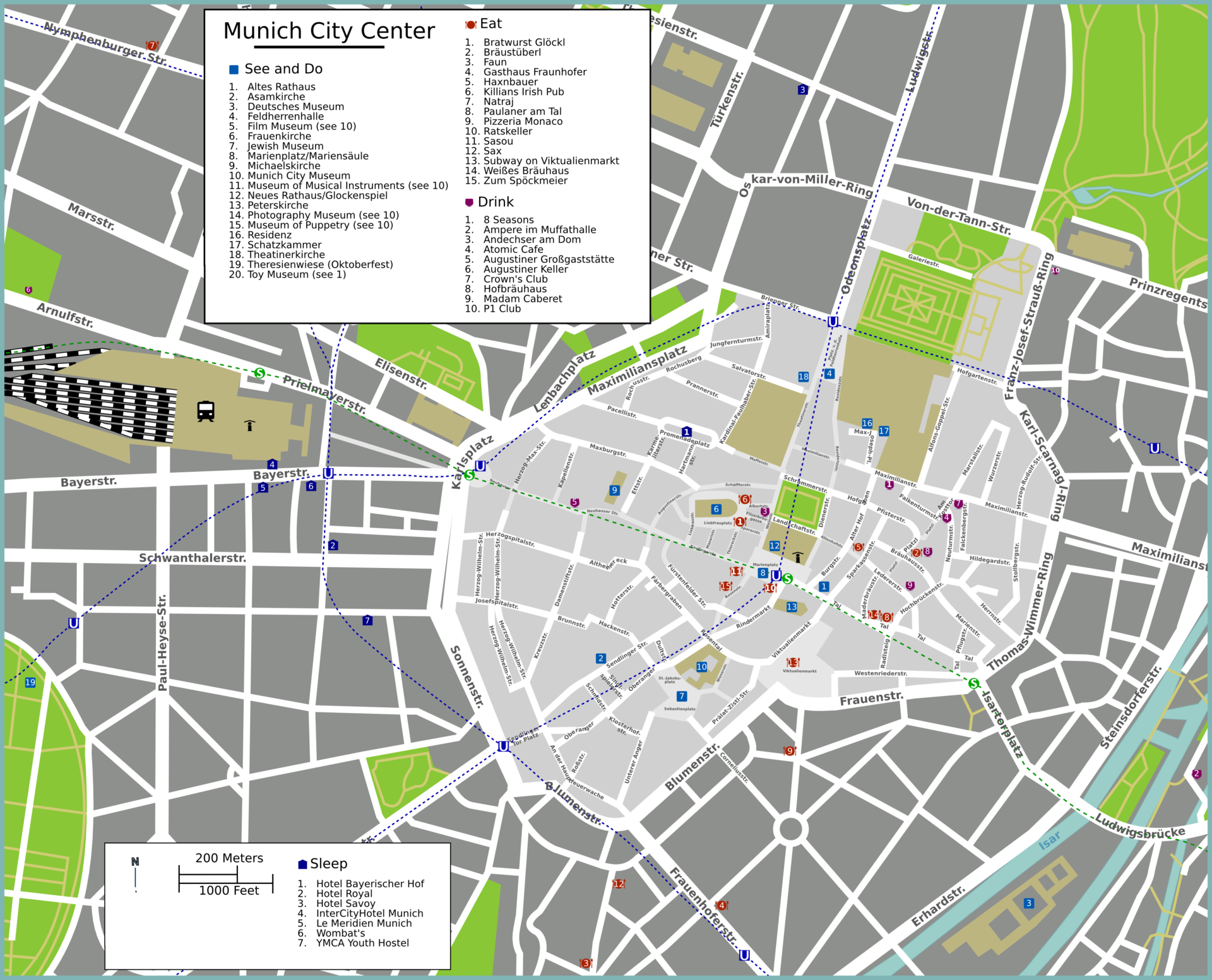 MunichAltstadt Travel guide at Wikivoyage – Munich Tourist Attractions Map