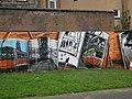 Mural, Kelvingrove Park. 3 - Trams - geograph.org.uk - 1516200.jpg