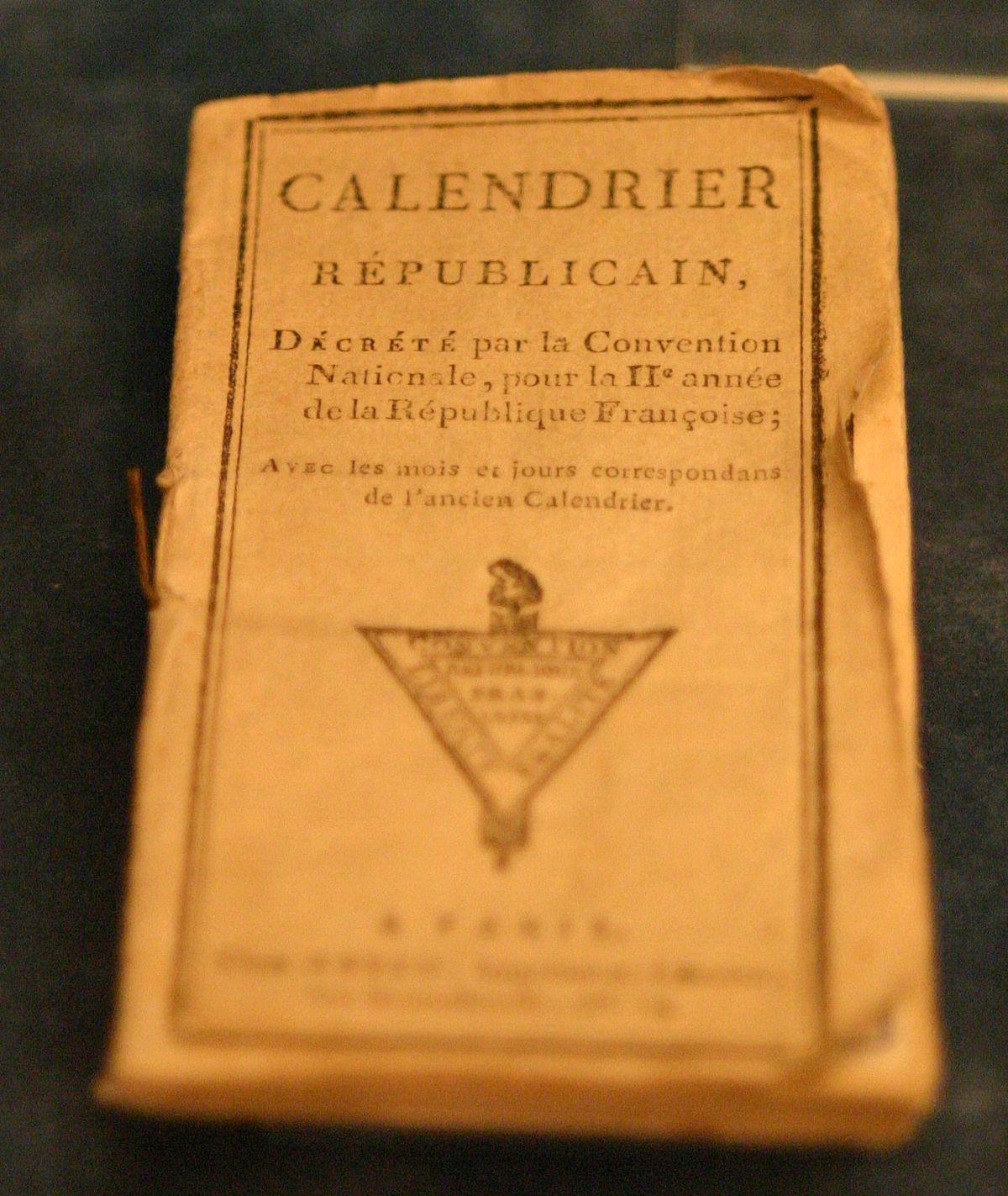Calendrier Revolutionnaire Conversion.Calendrier Republicain Wikipedia