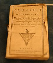 A French Revolutionary Calendar in the Historical Museum of Lausanne.
