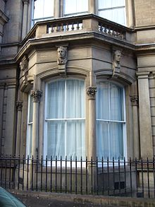an unmarked bay window