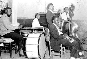 1956 in jazz - Musicians performing in Tom's Tavern club at Gonzalez and Railroad streets: Pensacola, Florida, 1956