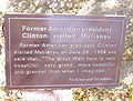 Mutianyu Bill Clinton visit plaque.JPG