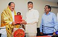 N. Chandrababu Naidu felicitating the Union Minister for Urban Development, Housing and Urban Poverty Alleviation and Parliamentary Affairs.jpg