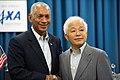 NASA Administrator Bolden with JAXA President Okumura in Tokyo (9815175723).jpg