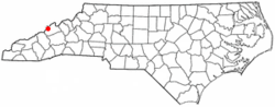 Location of Hot Springs, North Carolina