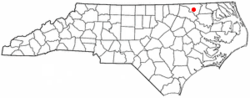 Location of Jackson, North Carolina