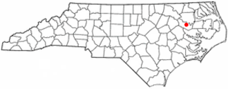 Williamston, North Carolina - Image: NC Map doton Williamston