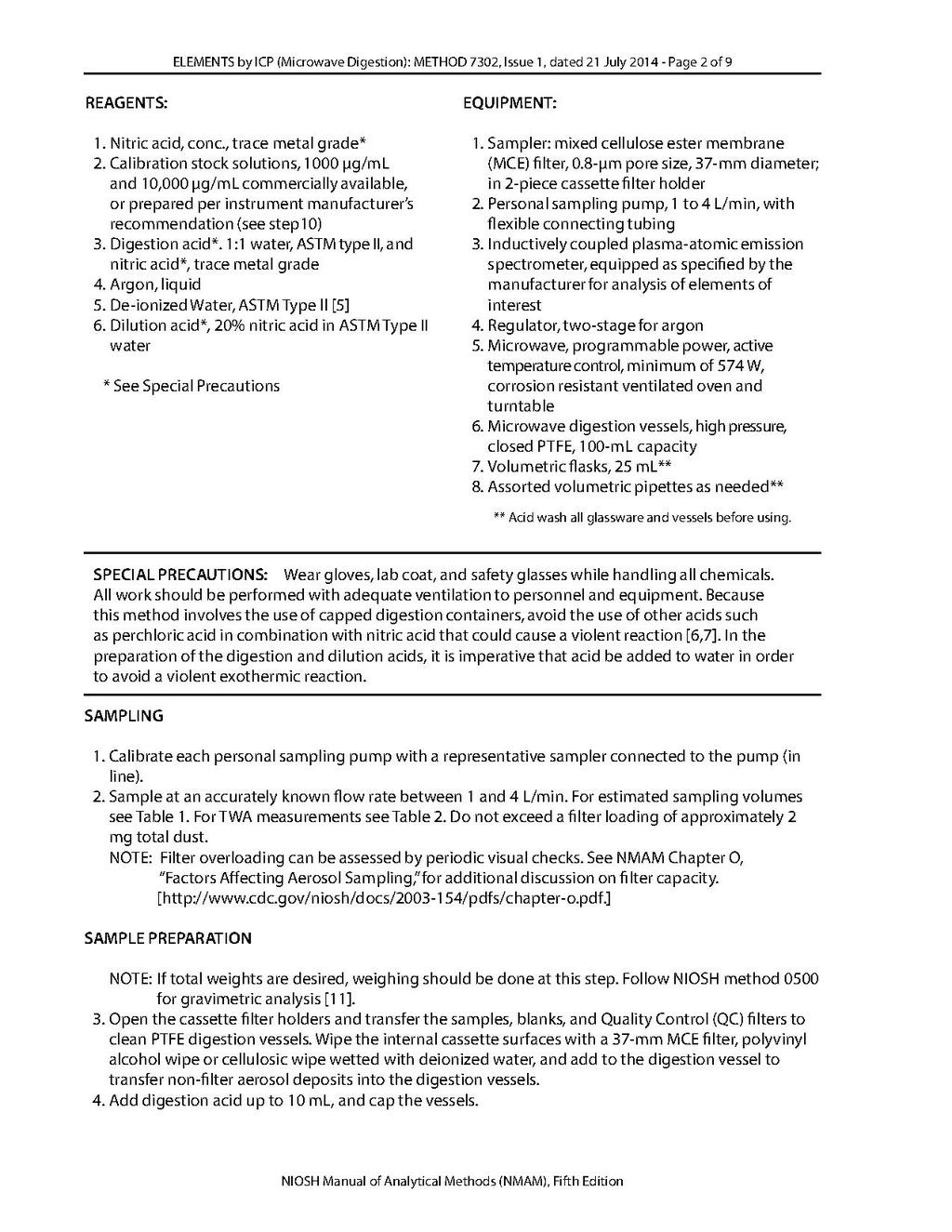 Page:NIOSH Manual of Analytical Methods - 7302 pdf/2