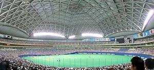 Chunichi Dragons - Image: Nagoyadome panorama 1