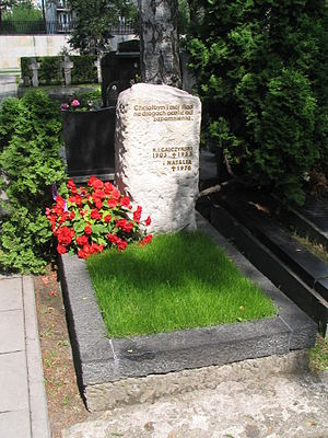 Konstanty Ildefons Gałczyński - The grave of Konstanty Ildefons Gałczyński and his wife Natalia on the Military Graveyard on Powązki in Warsaw.