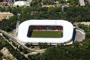 2017–18 Nemzeti Bajnokság I - Image: Nagyerdei stadion légi fotók