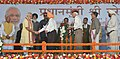 Narendra Modi at the public meeting for inauguration of the New Housing Scheme, in Chandigarh. The Governor of Punjab and Haryana and Administrator, Union Territory, Chandigarh.jpg