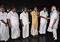Narendra Modi being received by the Chief Minister of Kerala, Shri Pinarayi Vijayan, the Minister of State for Tourism (IC), Shri Alphons Kannanthanam and other dignitaries, on his arrival, at Thiruvananthapuram.JPG