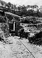 Narrow gauge railway at one of the oldest natural foundation forns in Catalonia.jpg