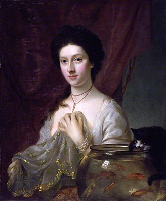 """Kitty Fisher - """"Catherine Maria Kitty Fisher"""" by Nathaniel Hone."""