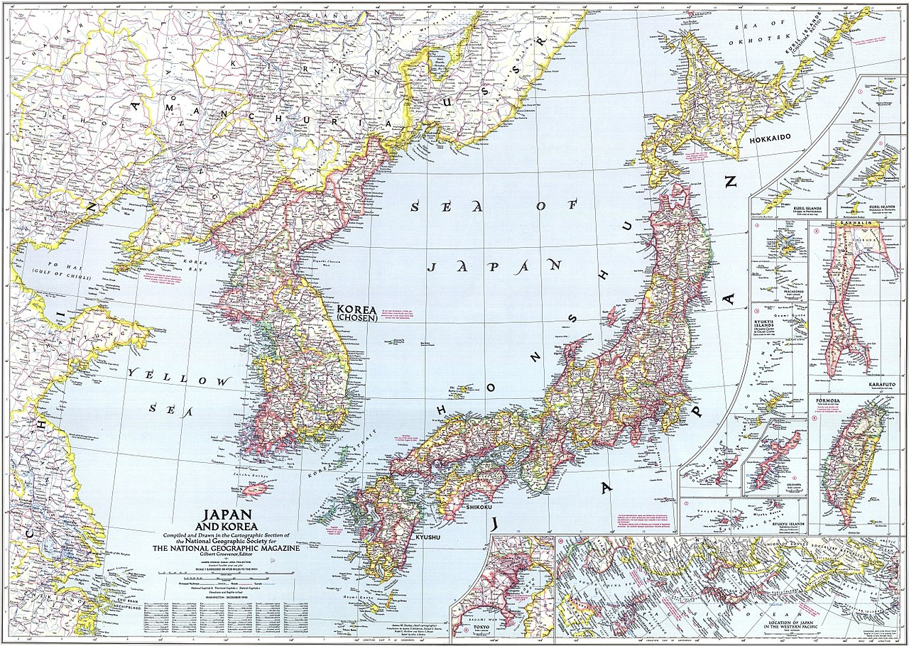 National Geographic Map Of China.File National Geographic Map Of Korea And Japan 1945 Jpg