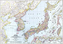 National Geographic map of Korea and Japan, 1945.jpg
