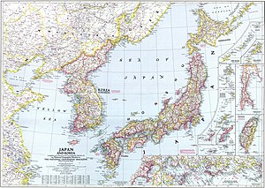 Korea under Japanese rule - Korea as part of the Empire of Japan in 1945.