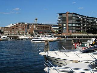 Nedre Elvehavn Neighborhood in Trondheim in Trøndelag, Central Norway, Norway