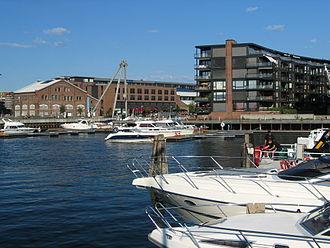 Nedre Elvehavn - Nedre Elvehavn seen from Midtbyen