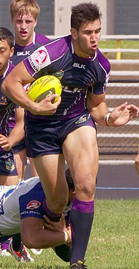 Asofa-Solomona playing for the Storm in 2014